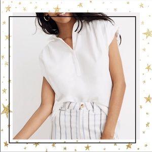 Madewell White oversized sleeveless shirt Sm (C5)